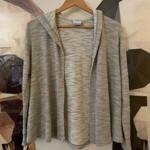 Columbia cotton open front hooded cardigan XS
